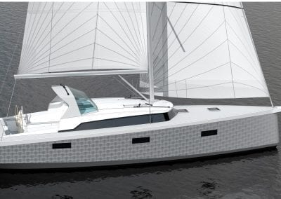 OVNI 400 under sail 3