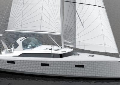 OVNI 400 under sail 4