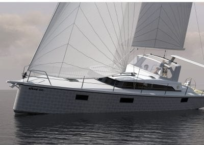 OVNI 400 under sail 1