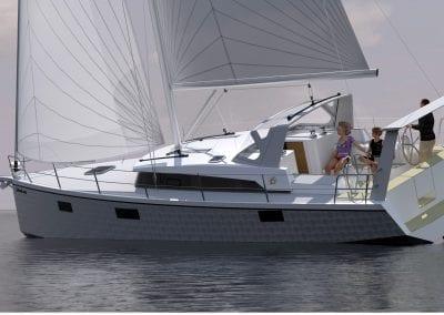OVNI 400 under sail 2